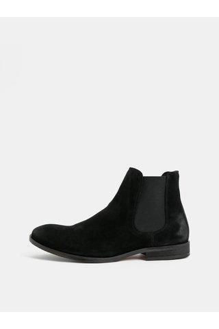 Černé pánské semišové chelsea boty Selected Homme Colin
