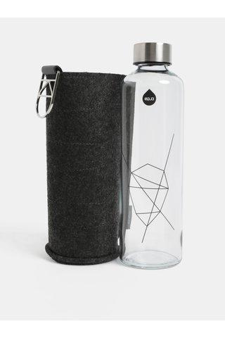 Skleněná láhev ve stříbrné barvě s obalem EQUA 750 ml