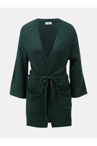 Cardigan verde cu cordon Jacqueline de Yong Danielle