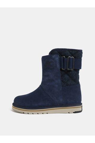 Tmavě modré dámské semišové zimní boty SOREL Newbie