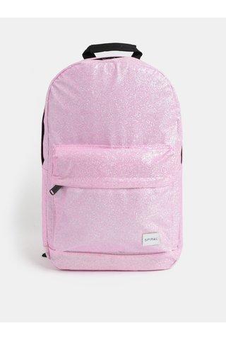Růžový dámský třpytivý batoh Spiral Core 18 l