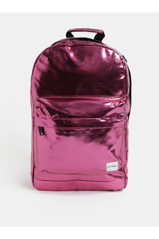 Tmavě růžový dámský lesklý batoh Spiral Platinum 18 l