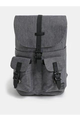 Šedý žíhaný batoh s kapsami Spiral Little 8 l