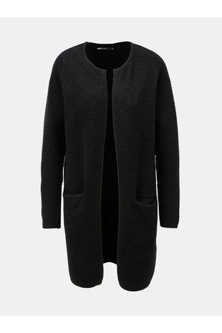 Cardigan negru cu striatii si buzunare ONLY