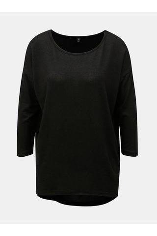 Pulover negru lejer cu maneci 3/4 ONLY