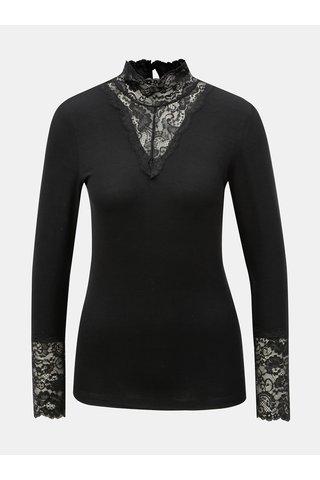 Bluza neagra cu detalii din dantela VERO MODA