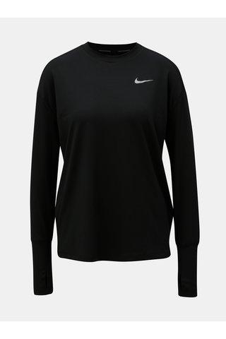 Tricou de dama functional negru cu maneci lungi Nike