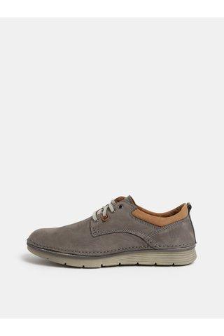 Šedé pánské kožené boty Weinbrenner