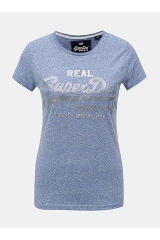 Tricou de dama albastru melanj Superdry