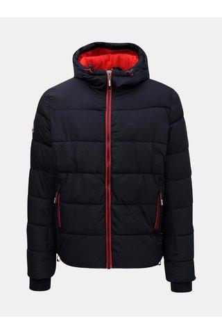 Jacheta barbateasca de iarna albastru inchis Superdry