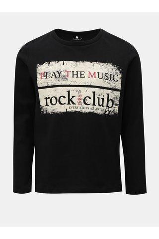 Černé klučičí tričko s dlouhým rukávem Name it Morlando