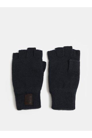 Tmavě modré bezprstové rukavice s fleecovou vnitřní částí ONLY & SONS Clas
