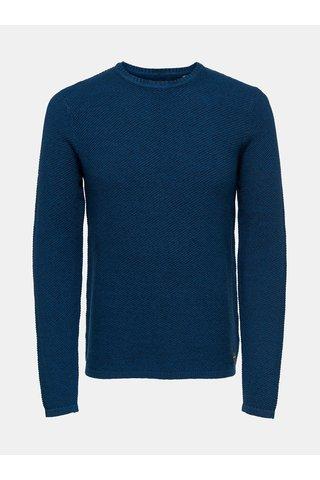 Pulover albastru ONLY & SONS Dan 7