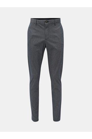 Modré pánské vzorované straight fit chino kalhoty Tommy Hilfiger