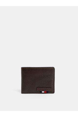 Hnědá peněženka kožená peněženka Tommy Hilfiger
