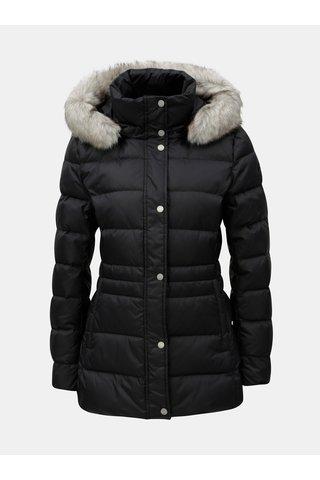 Černá dámská péřová prošívaná zimní bunda Tommy Hilfiger