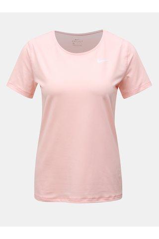 Tricou roz functional cu maneci scurte Nike
