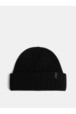 Caciula de iarna neagra impletita din lana Selected Homme