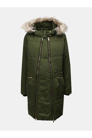 Jacheta de iarna verde matlasata pentru femei insarcinate Mama.licious