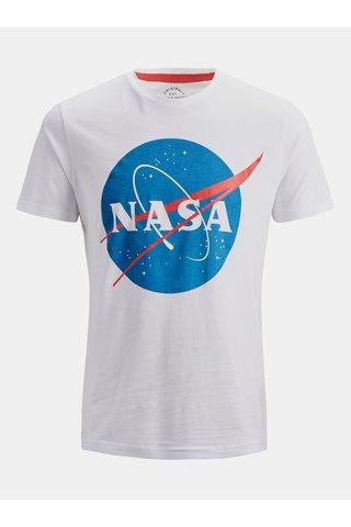 Tricou alb cu imprimeu Jack & Jones Nasa
