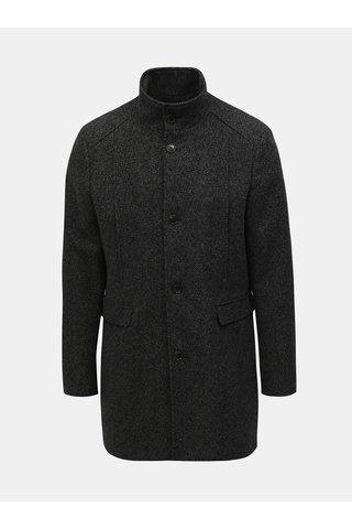 Černý žíhaný kabát Selected Homme Mosto