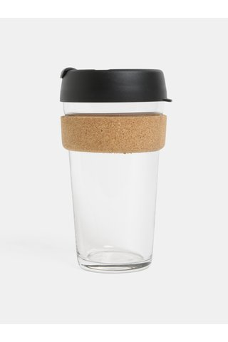 Cana neagra de calatorie din sticla KeepCup Brew large 454 ml
