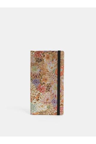 Agenda saptamanala 2019 roz cu motiv floral Paperblanks