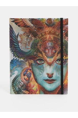 Agenda saptamanala 2019 mare albastru-maro Paperblanks Dharma Dragon