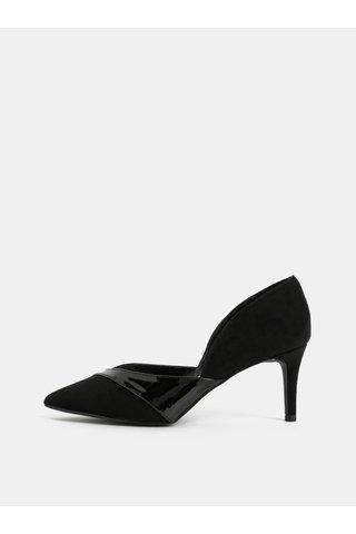Pantofi negri din piele intoarsa Dorothy Perkins
