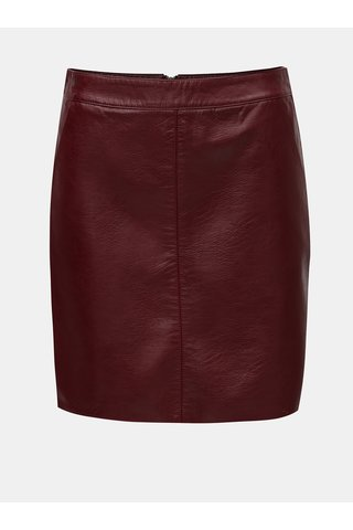 Vínová koženková sukně Dorothy Perkins