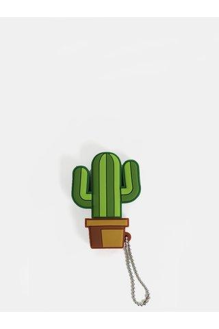 Splitter audio in forma de cactus maro-verde Mustard
