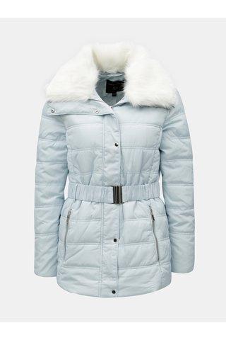 Jacheta albastru deschis matlasata cu blana artificiala Dorothy Perkins