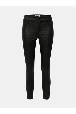 Pantaloni negri skinny din piele Dorothy Perkins Petite