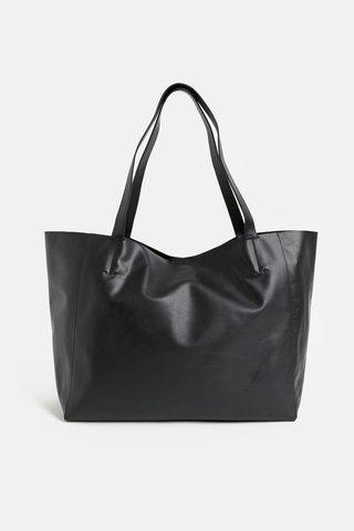 Geanta pentru shopping neagra din piele Vagabond Gothenburg