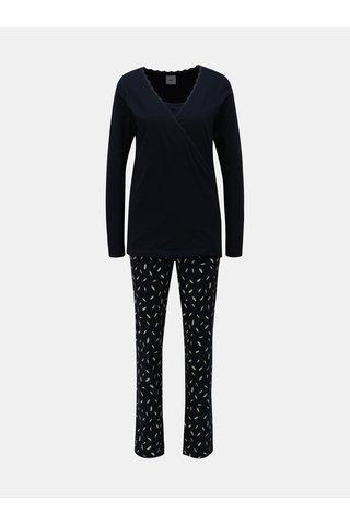 Pijama din 2 piese albastru inchis pentru femei insarcinate/alaptata Mama.licious