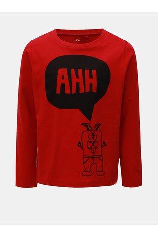 Červené klučičí tričko s potiskem Name it Vagno