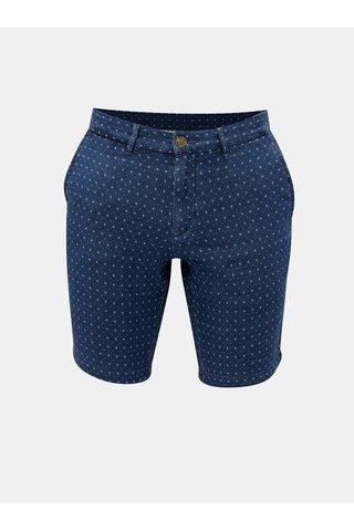 Modré pánské vzorované classic fit chino kraťasy Tommy Hilfiger