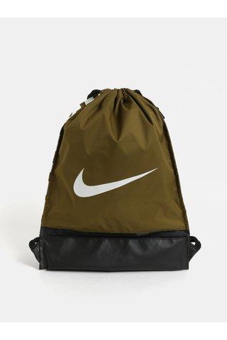 Sac kaki cu imprimeu si buzunar lateral cu fermoar Nike Braslia 17 l