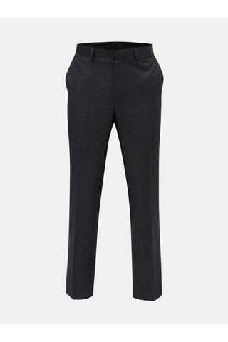 Pantaloni plisati formali albastru inchis Burton Menswear London