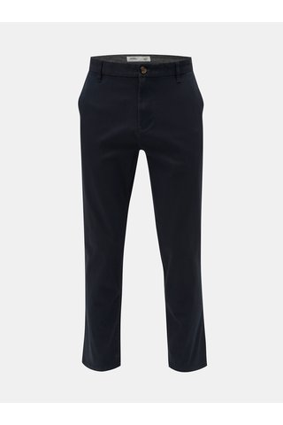 Pantaloni albastru inchis straight chino Burton Menswear London
