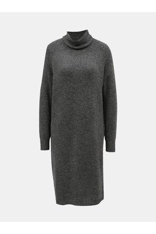Rochie tricotata gri cu maneci lungi Selected Femme Lara
