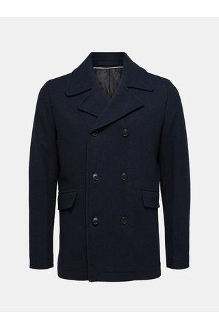Jacheta albastru inchis din lana Selected Homme