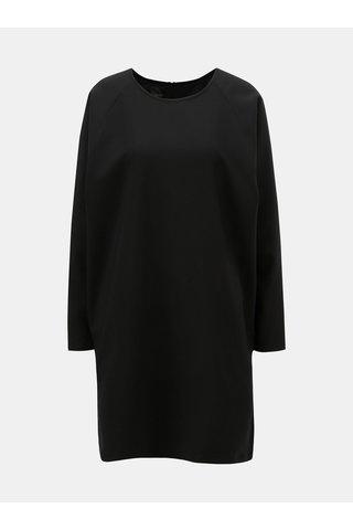 Černé šaty s dlouhým rukávem Makia Current