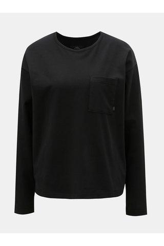 Černé dámské volné tričko s náprsní kapsou Makia Dusk