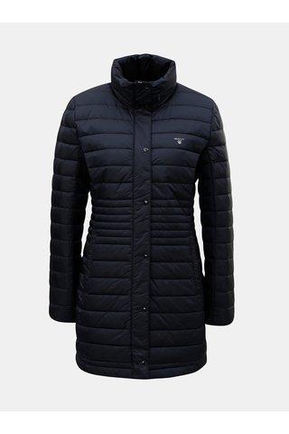 Tmavě modrý dámský péřový prošívaný kabát GANT