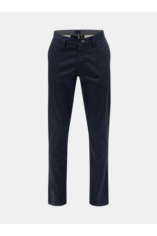 Pantaloni barbatesti albastru inchis chino slim fit GANT
