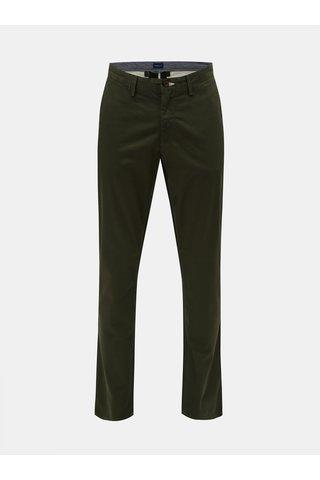 Pantaloni barbatesti verde inchis chino slim fit GANT