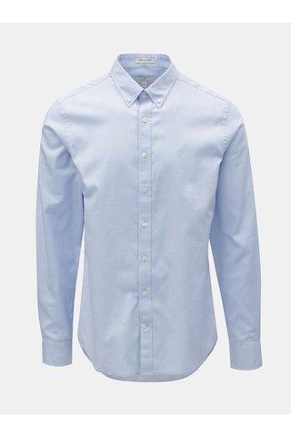 Camasa barbateasca formala slim fit albastru deschis GANT