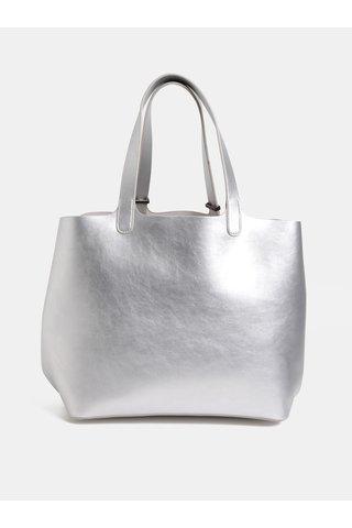 Geanta pentru shopping 2in1 metalici argintii Pieces Madison