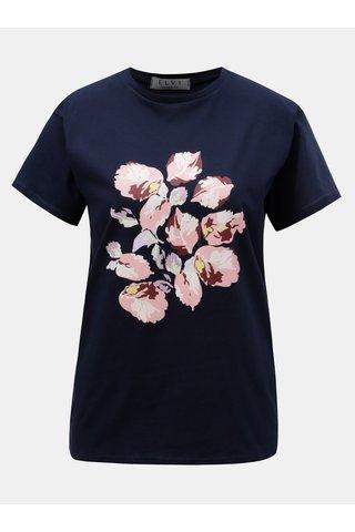 Tmavě modré tričko s potiskem ELVI